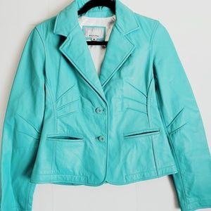 Wilson's leather teal green medium jacket